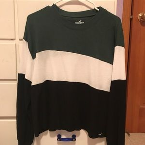 Hollister Striped Waffle Long Sleeve Shirt